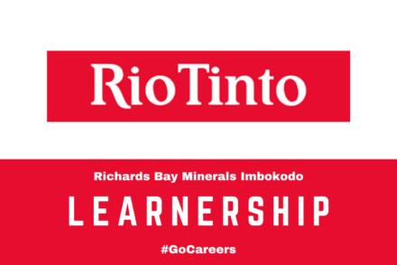 Rio Tinto-RBM Imbokodo Learnership Programme