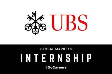 UBS Global Markets Internship Programme